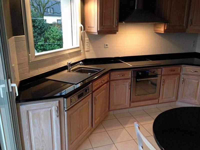 Plan De Travail Granit Noir : Plan de travail en granit pour cuisine